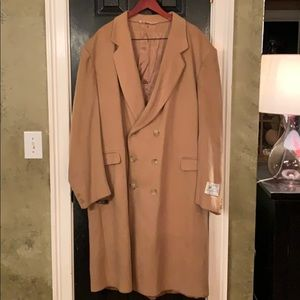 VTG Sovereign Camel  cashmere wool long coat 52